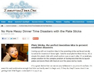 invention idea plate sticka no more messy dinner time disasters